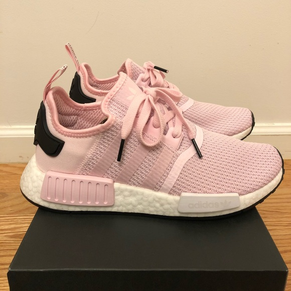 new arrival 3d37e 935ca Adidas Originals NMD R1 Boost Pink White Women NEW